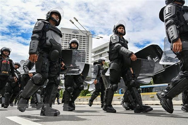 Indonesian police reveal broader plot behind protests hinh anh 1