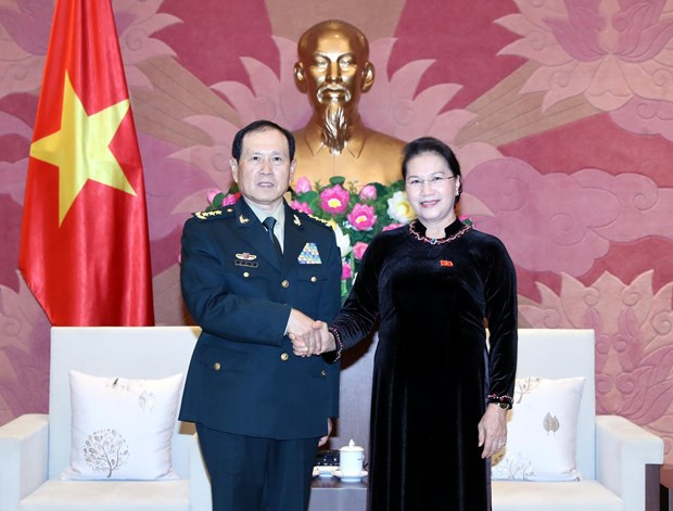 NA Chairwoman highly values Vietnam-China defence ties hinh anh 1