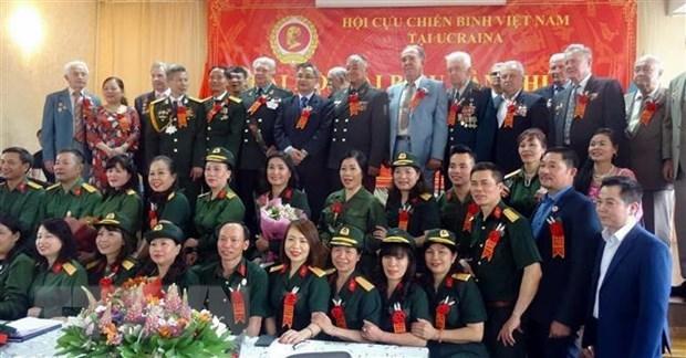 Vietnamese war veterans' association in Ukraine holds 2nd congress hinh anh 1