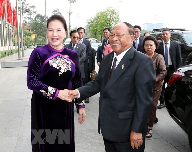 Cambodian NA President concludes Vietnam visit hinh anh 1