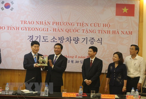 Ha Nam, Gyeonggi provinces discuss ways to boost ties hinh anh 1