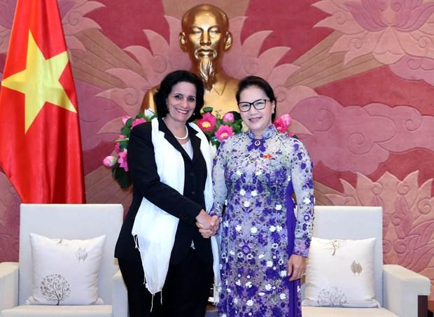 Top legislator hosts Cuban supreme procuracy leader hinh anh 1