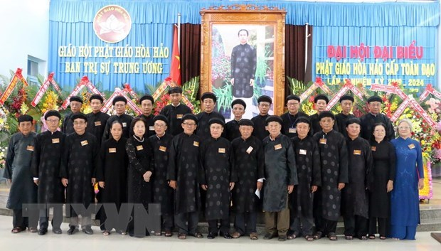 Hoa Hao Buddhism convenes fifth national congress hinh anh 1