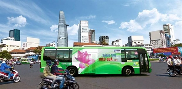 HCM City to auction again advertising space on buses hinh anh 1