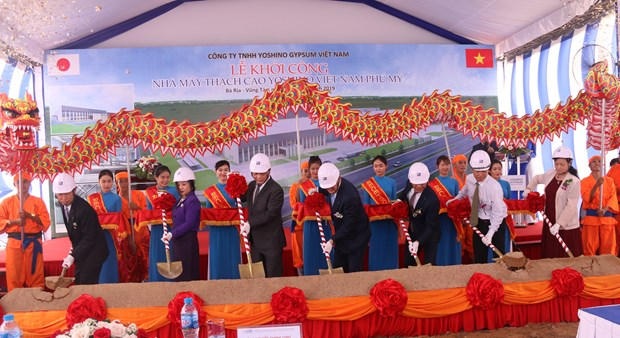 Japanese-invested gypsum factory built in Ba Ria-Vung Tau hinh anh 1