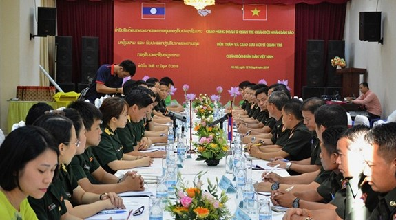 Vietnamese, Lao young military officers foster partnership hinh anh 1