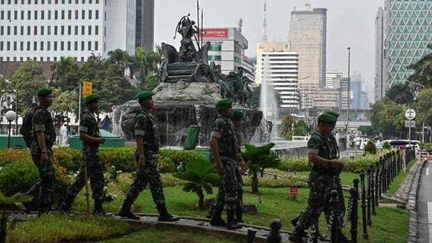 Indonesia tightens security while court hears election fraud claims hinh anh 1