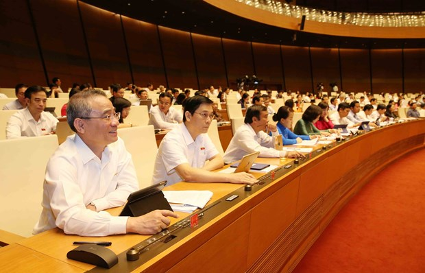 Lawmakers approve two important resolutions hinh anh 1