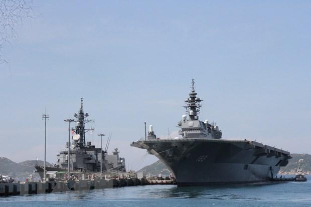 Japanese naval vessels visit Vietnam hinh anh 1