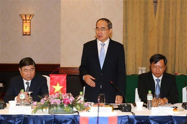 Ho Chi Minh City, Vientiane leaders hold talks hinh anh 1