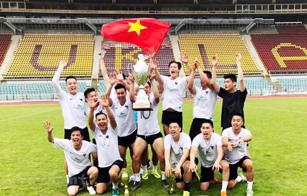 Vietnamese team wins friendly football tournament in Czech Republic hinh anh 1