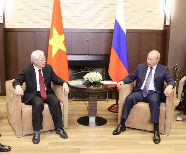 Vietnamese, Russian leaders exchange greetings on friendship ties anniversary hinh anh 1