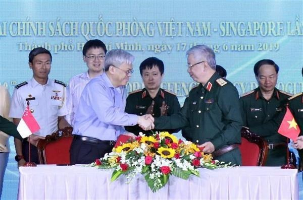 Vietnam, Singapore hold defence policy dialogue hinh anh 1