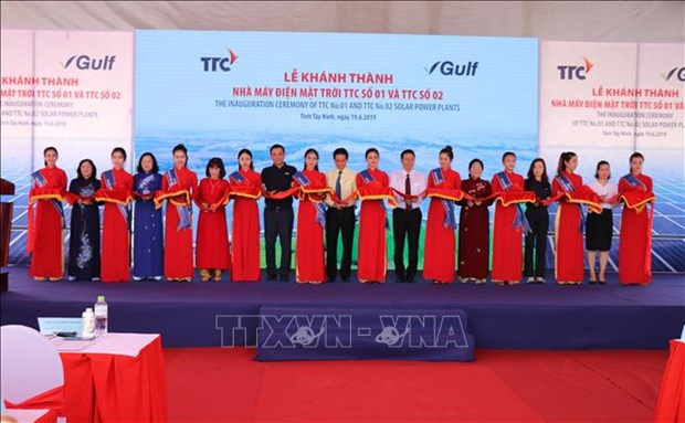 Two solar power plants become operational in Tay Ninh hinh anh 1