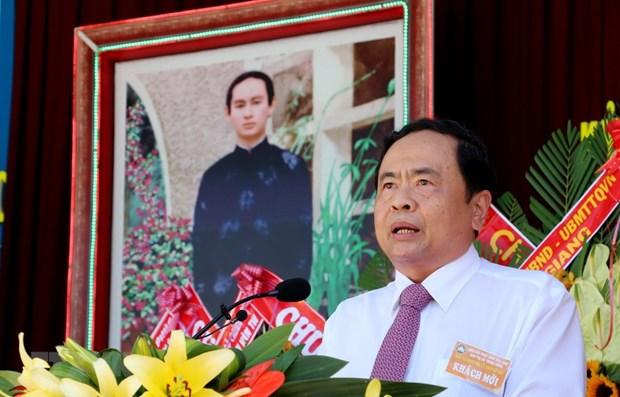 Country treasures Hoa Hao Buddhists' contributions: front leader hinh anh 1