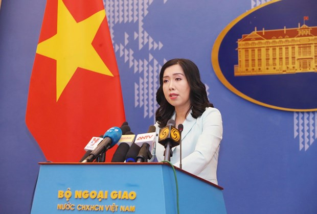 Spokeswoman makes clear Vietnam's views on trade fraud, sea-related issues hinh anh 1