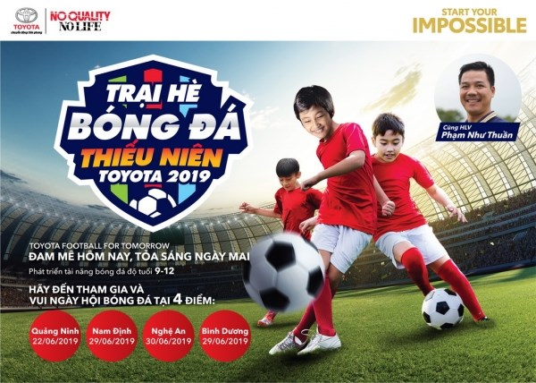 Toyota junior football camp 2019 to kick off hinh anh 1