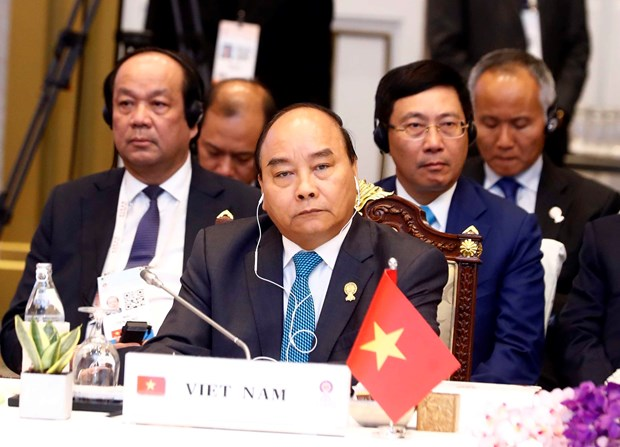 PM Nguyen Xuan Phuc attends plenum of 34th ASEAN Summit hinh anh 1