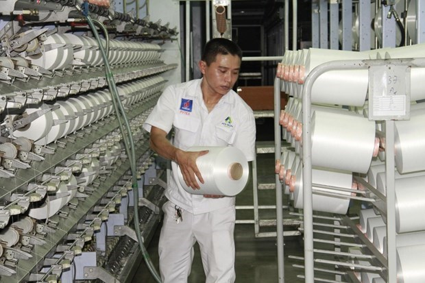 Dinh Vu Polyester Fibre Plant sees good signals after resuming operation hinh anh 1