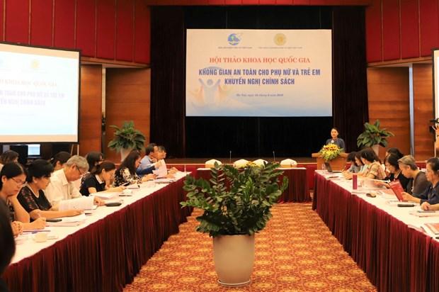 Workshop talks safe space for women, children hinh anh 1