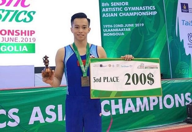 Vietnam win two Asian gymnastic bronzes hinh anh 1