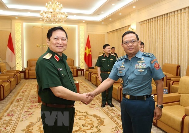 Vietnam, Indonesia launch first defence dialogue hinh anh 1