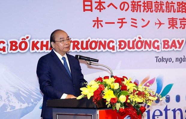 PM attends launch of Vietjet's new flights to Japan hinh anh 1