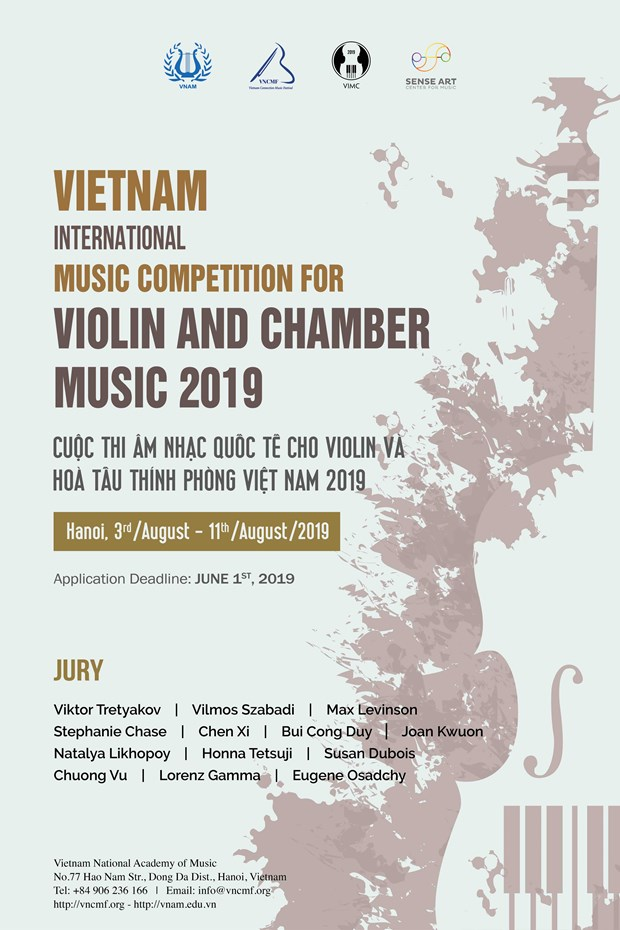Vietnam to host int'l violin – chamber music contest for first time hinh anh 1