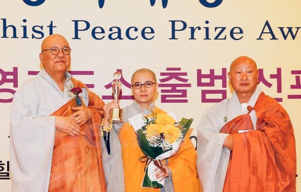 Vietnamese nun granted with RoK's Peace Prize Awards hinh anh 1