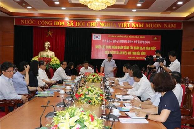 Hoa Binh, RoK's Ulju county to foster friendship exchange hinh anh 1