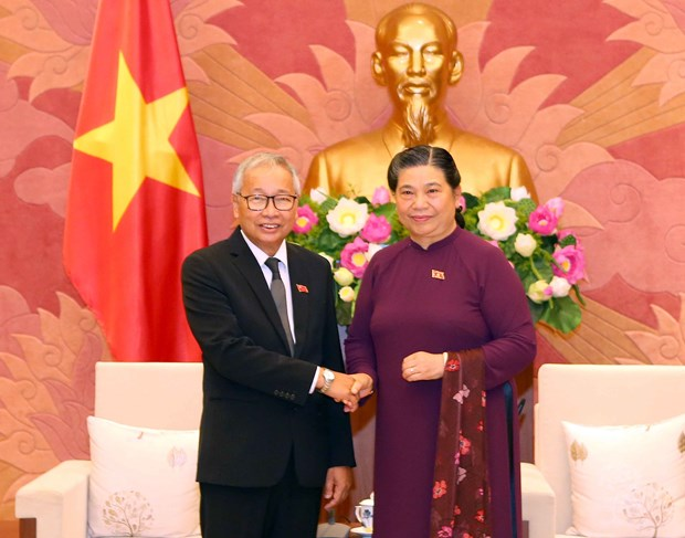 Officials of Myanmar's ruling party visit Vietnam hinh anh 1