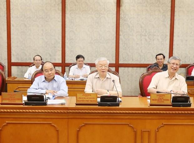 Party General Secretary Nguyen Phu Trong chairs Politburo meeting hinh anh 1