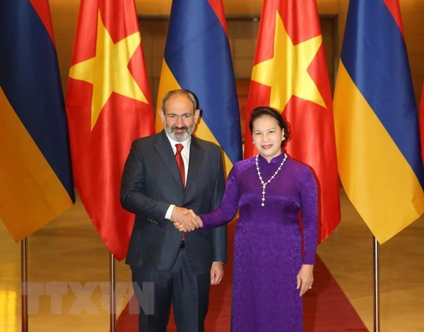 Parliamentary leader welcomes Armenian Prime Minister hinh anh 1