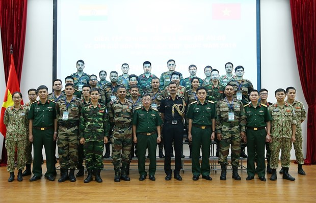 Vietnam, India hold exercise to share peacekeeping experience hinh anh 1