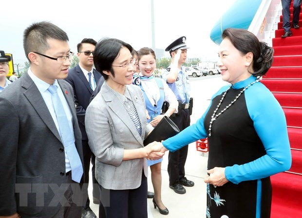 NA Chairwoman arrives in Jiangsu, begins official visit to China hinh anh 1