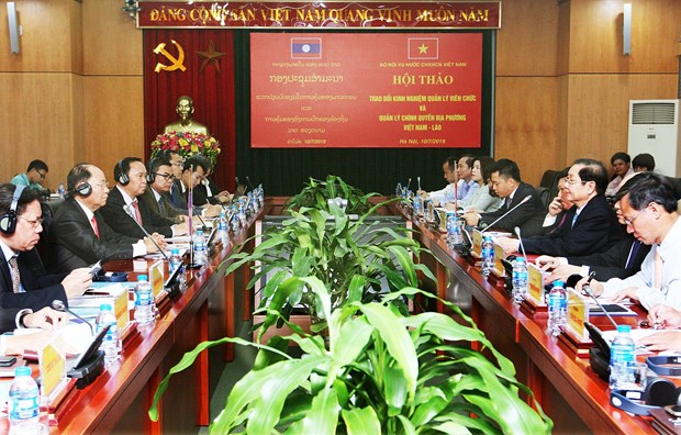 Vietnam, Laos share experience in managing local administrations hinh anh 1