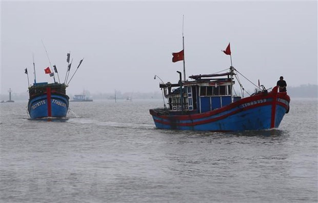 Fishing boat saves 32 foreign fishermen hinh anh 1