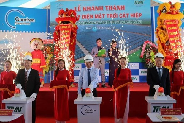 First solar power plant in Binh Dinh inaugurated hinh anh 1