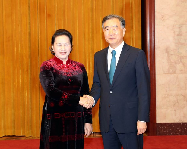 NA leader meets head of Chinese People's Political Consultative Conference hinh anh 1
