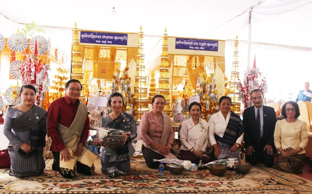 Embassy joins celebration of late Lao leader's birthday hinh anh 1