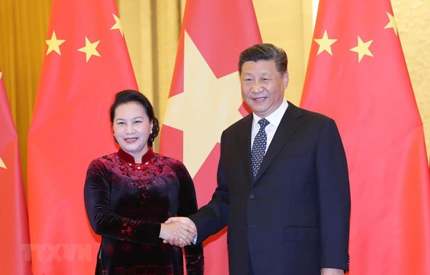 Vietnamese NA Chairwoman meets top Chinese Party and State leader hinh anh 1