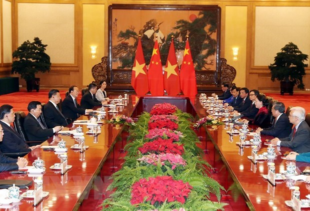 Vietnamese NA Chairwoman meets top Chinese Party and State leader hinh anh 2