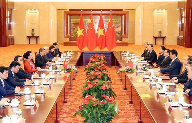 Vietnamese NA leader wraps up official visit to China hinh anh 1