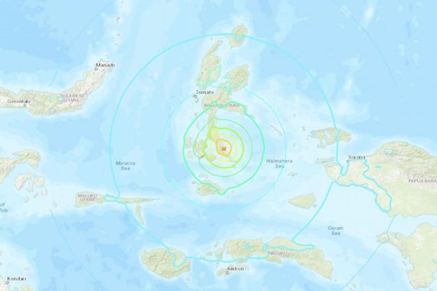 Quake with 7.3 magnitude strikes eastern Indonesia hinh anh 1