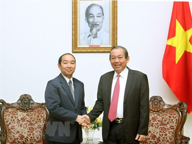 Deputy PM welcomes Chief Judge of Lao Supreme Court hinh anh 1
