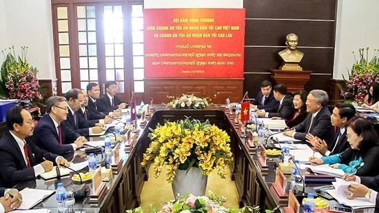 Vietnam, Laos step up judicial ties hinh anh 1