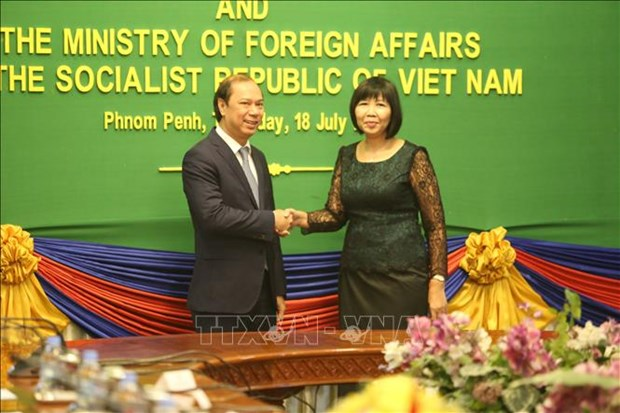 Vietnam, Cambodia hold sixth political consultation hinh anh 1
