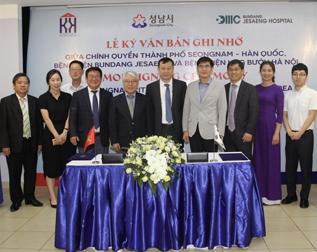Hanoi Oncology Hospital signs deal with Korean partners hinh anh 1