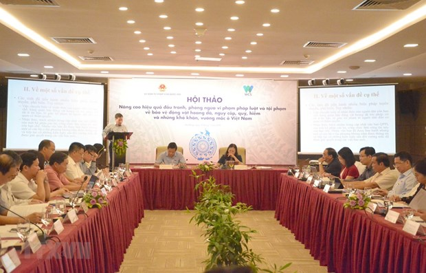 Workshop seeks to improve law on protecting wild animals hinh anh 1
