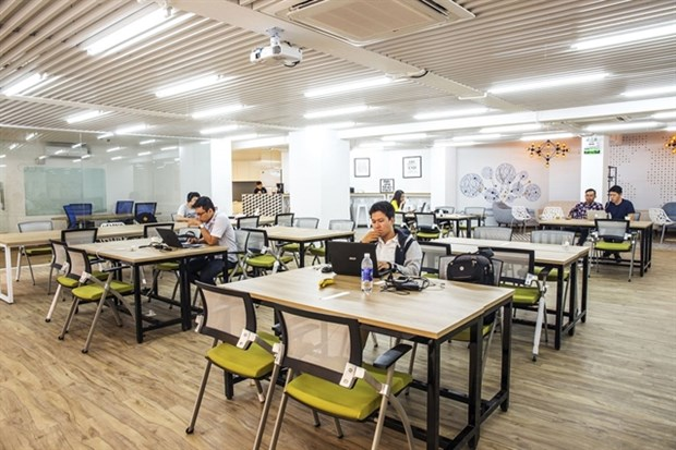 HCM City co-working office space market developing strongly hinh anh 1